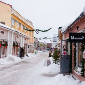 Porvoo town in winter