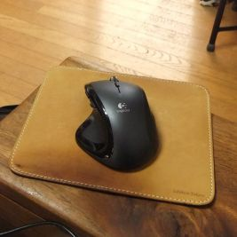 named leather mousepad by Glencheck