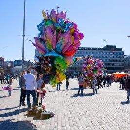 Vappu celebrations in Helsinki 2013