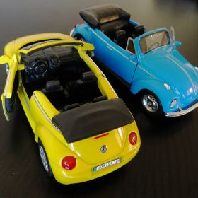 Old & New VW in miniature