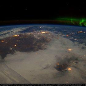 CENTRAL USA AURORA ISS 20120207