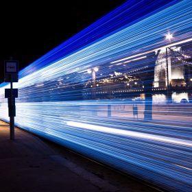 Christmas Light Tram in Budapest