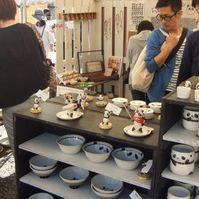 (temp) クワバラ ジュン & マスナガ ノリコ @ 益子 陶器市 科まぐれの丘 2013.04.28