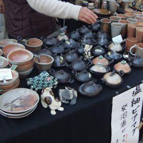 (temp) 籐心陶芸center@益子 陶器市 大塚はにわ店 軒先 2013.04.28