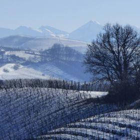 La Morra e Langhe con la neve