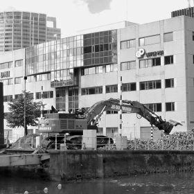 Demolition Grote Wijnbrug Rotterdam 3D